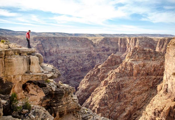"""""""Life is on the wire; the rest is just waiting."""": High- wire artist Nik Wallenda at Hell- Hole Bend, Grand Canyon, AZ, ahead of this historic wire- walk, this Sunday."""