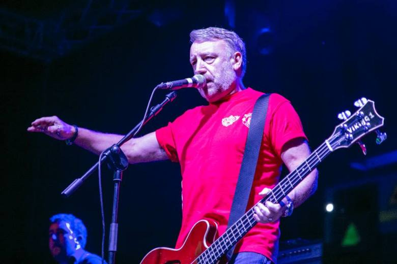 Peter Hook, centre stage.
