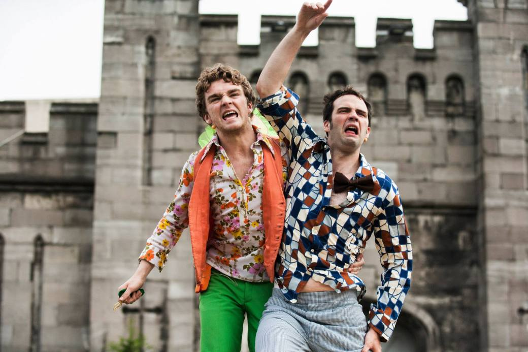Left to Right: Fionn Foley (Puck) and Colm O'Brien (Demetrius)