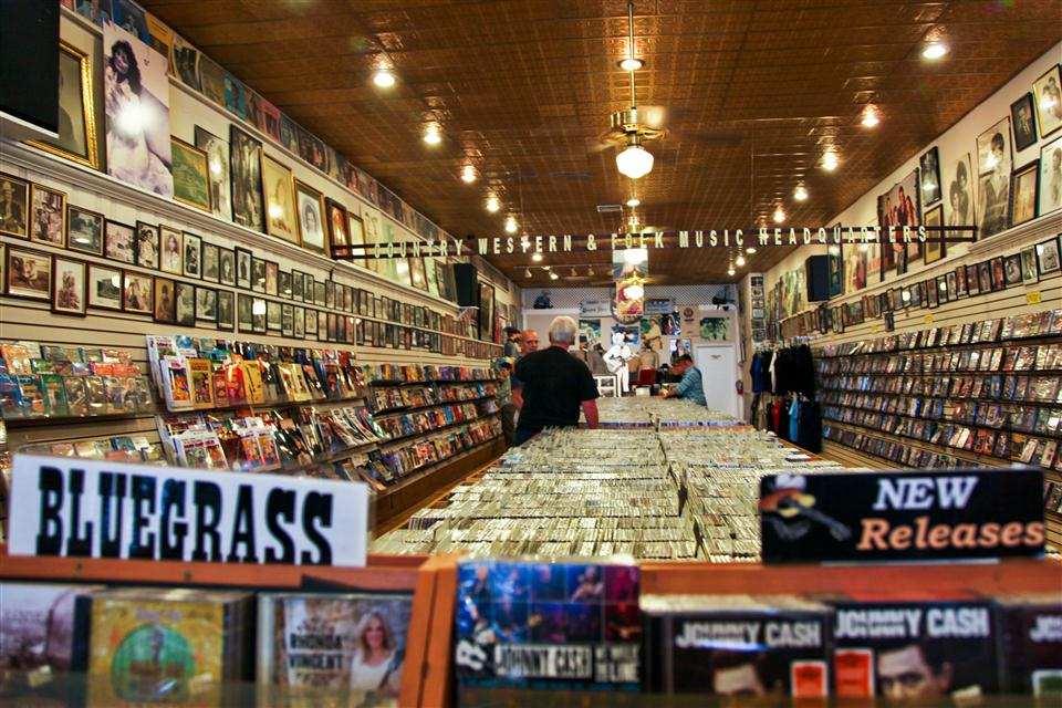Ernest Tubb's iconic record shop, 417 Broadway, Nashville, TN.