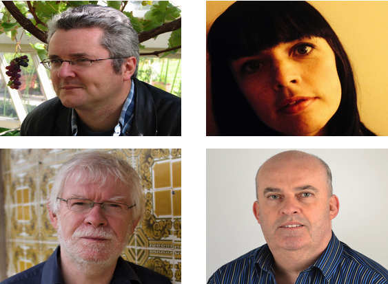 Poets Peter Sirr, Doireann Ní Ghríofa, John Saunders and Gerard Smyth (clockwise from top left)